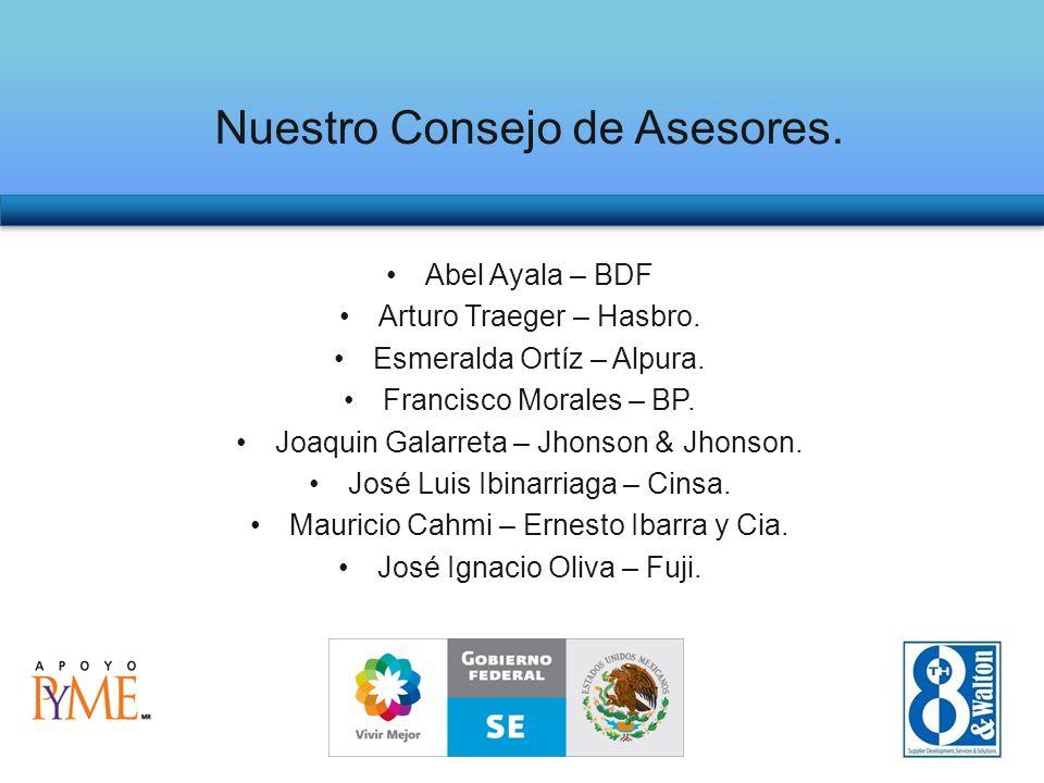 Nuestro Consejo de Asesores. Abel Ayala – BDF Arturo Traeger – Hasbro.
