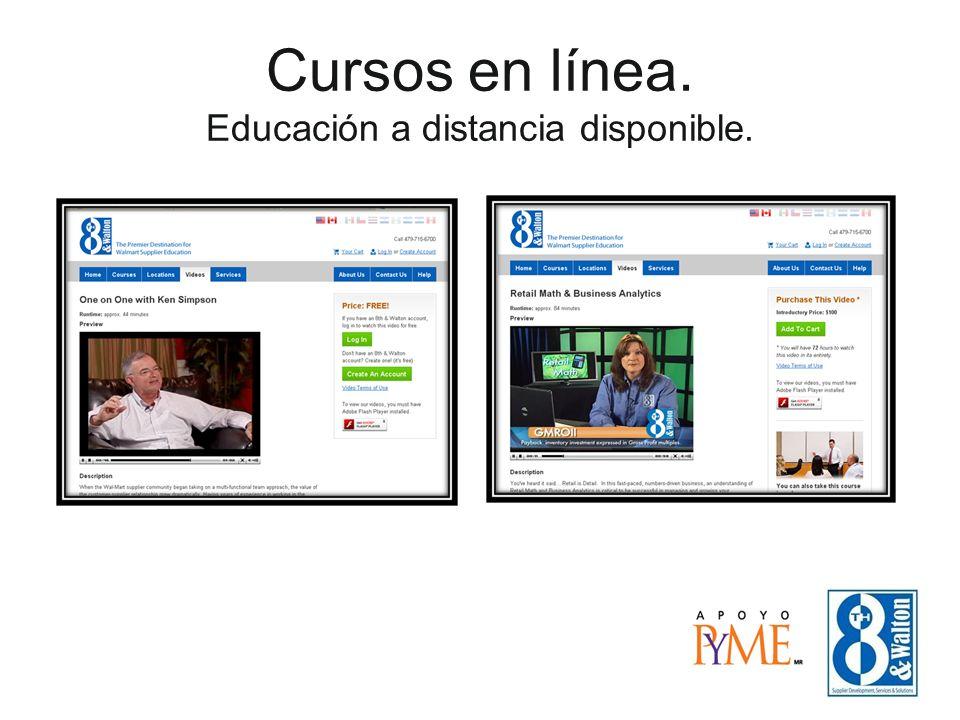 Cursos en línea. Educación a distancia disponible.