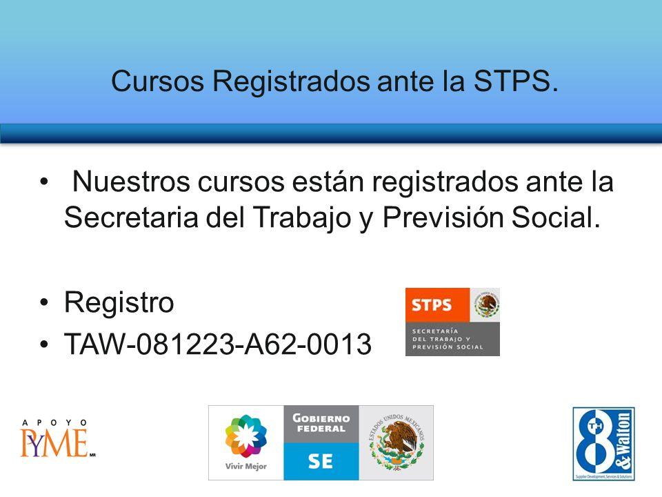 Cursos Registrados ante la STPS.