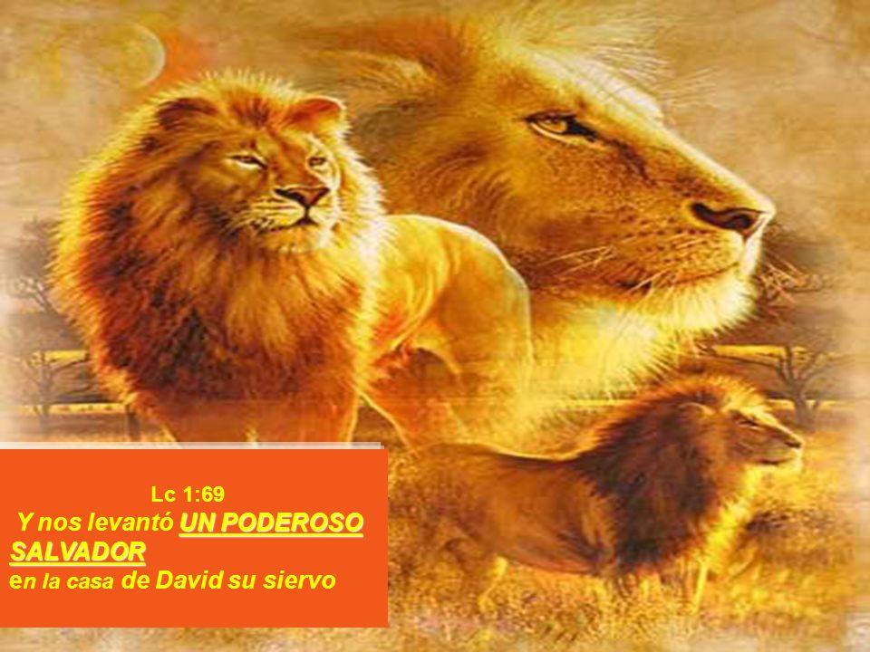 Lc 1:69 UN PODEROSO SALVADOR Y nos levantó UN PODEROSO SALVADOR e n la casa de David su siervo