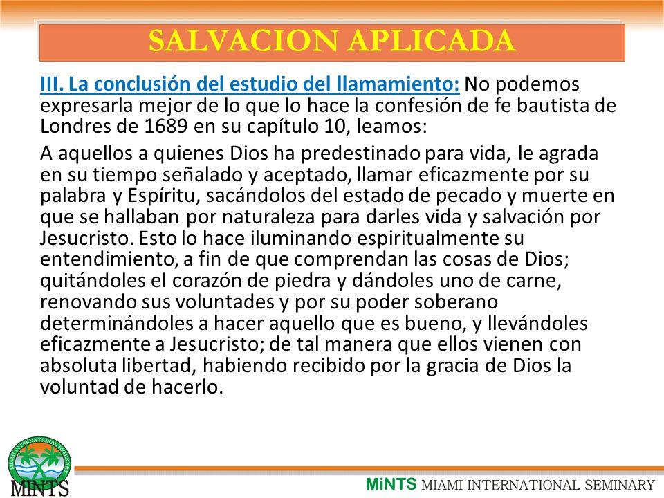 SALVACION APLICADA III.
