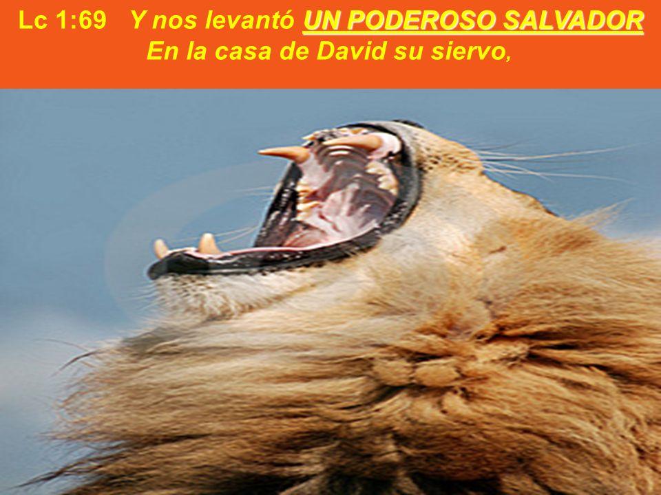 UN PODEROSO SALVADOR Lc 1:69 Y nos levantó UN PODEROSO SALVADOR En la casa de David su siervo,