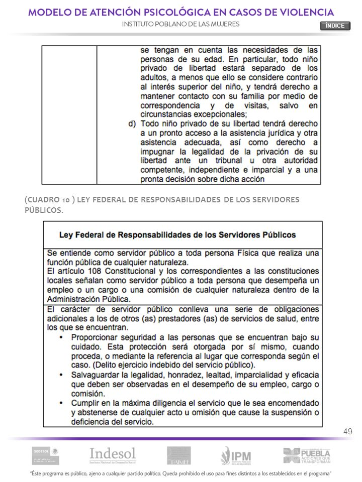 49 (CUADRO 10 ) LEY FEDERAL DE RESPONSABILIDADES DE LOS SERVIDORES PÚBLICOS.