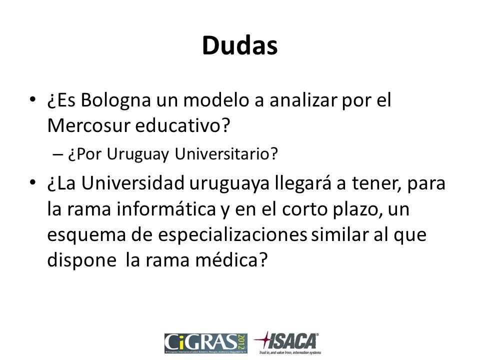 Dudas ¿Es Bologna un modelo a analizar por el Mercosur educativo.
