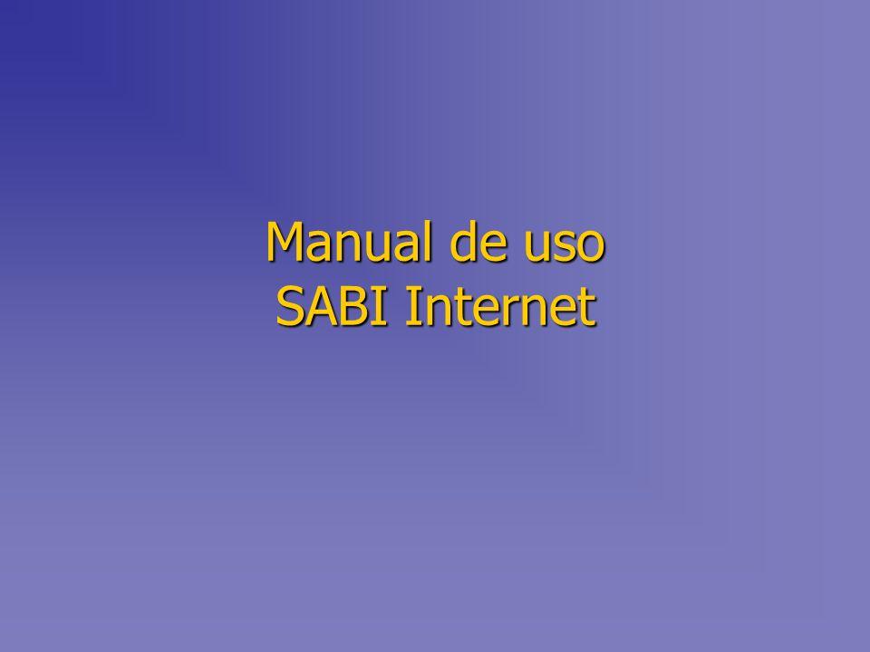 Manual de uso SABI Internet