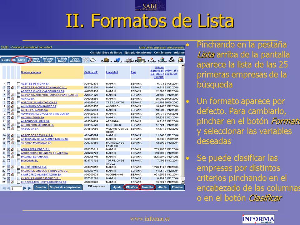 www.informa.es IX.