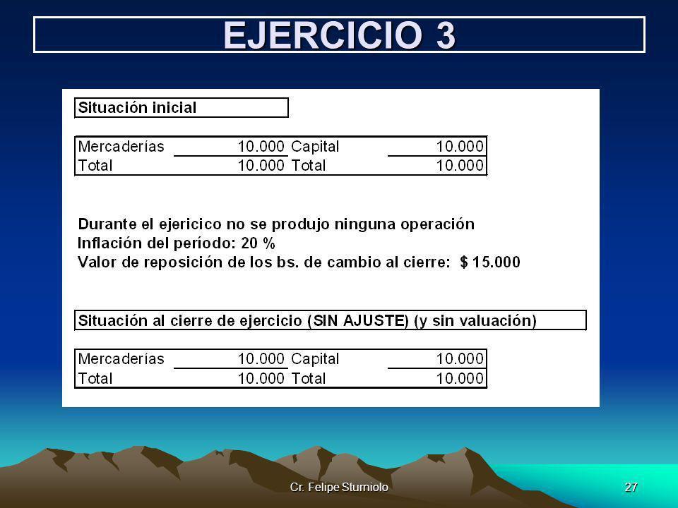 Cr. Felipe Sturniolo27 EJERCICIO 3