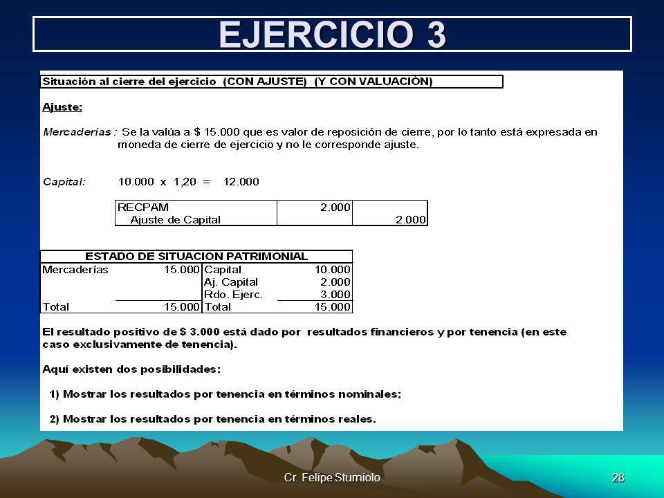 Cr. Felipe Sturniolo28 EJERCICIO 3