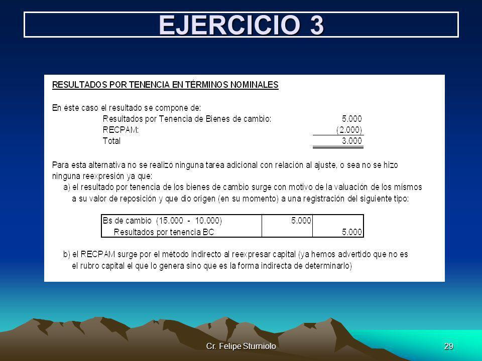 Cr. Felipe Sturniolo29 EJERCICIO 3