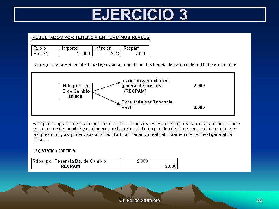 Cr. Felipe Sturniolo30 EJERCICIO 3