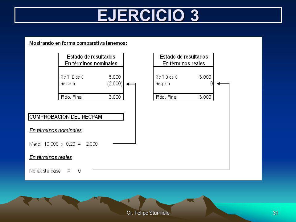 Cr. Felipe Sturniolo31 EJERCICIO 3