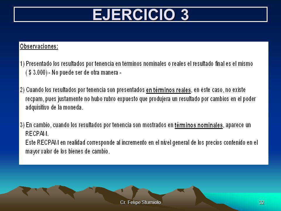 Cr. Felipe Sturniolo32 EJERCICIO 3