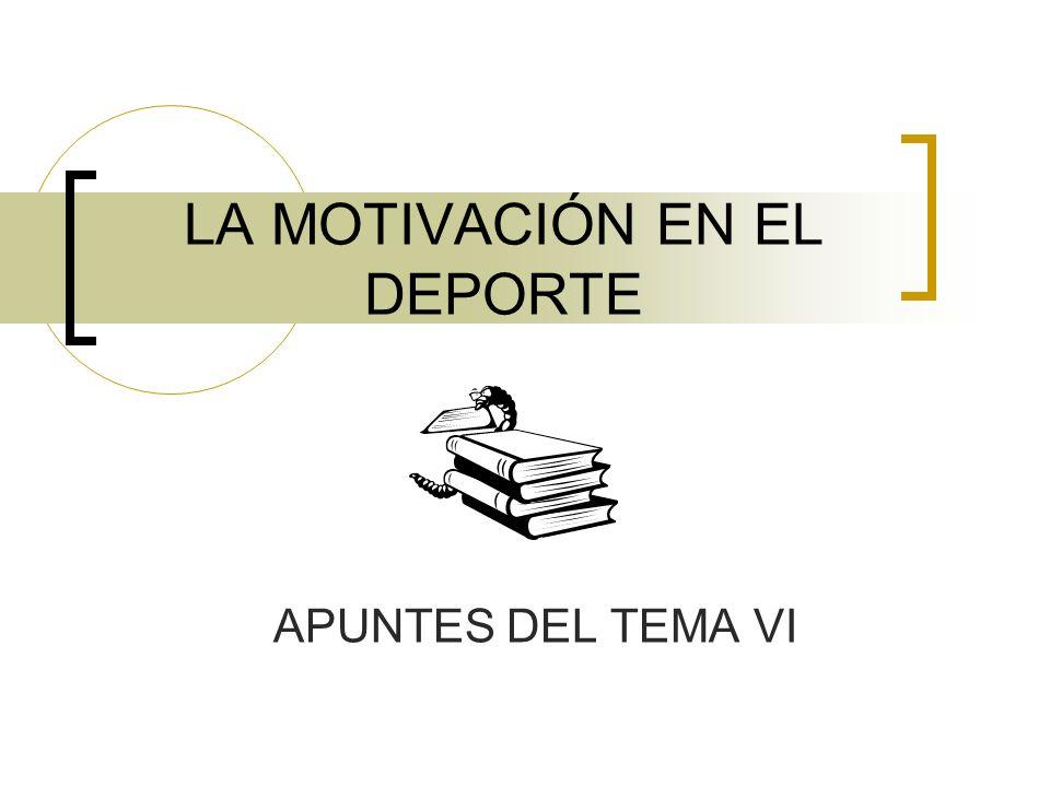 LA MOTIVACIÓN EN EL DEPORTE APUNTES DEL TEMA VI
