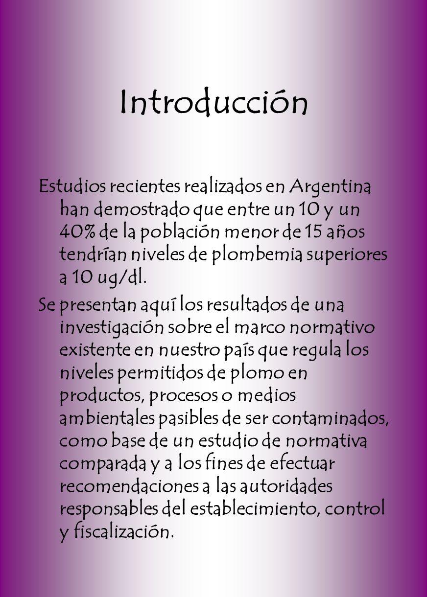 Introducción Estudios recientes realizados en Argentina han demostrado que entre un 10 y un 40% de la población menor de 15 años tendrían niveles de p
