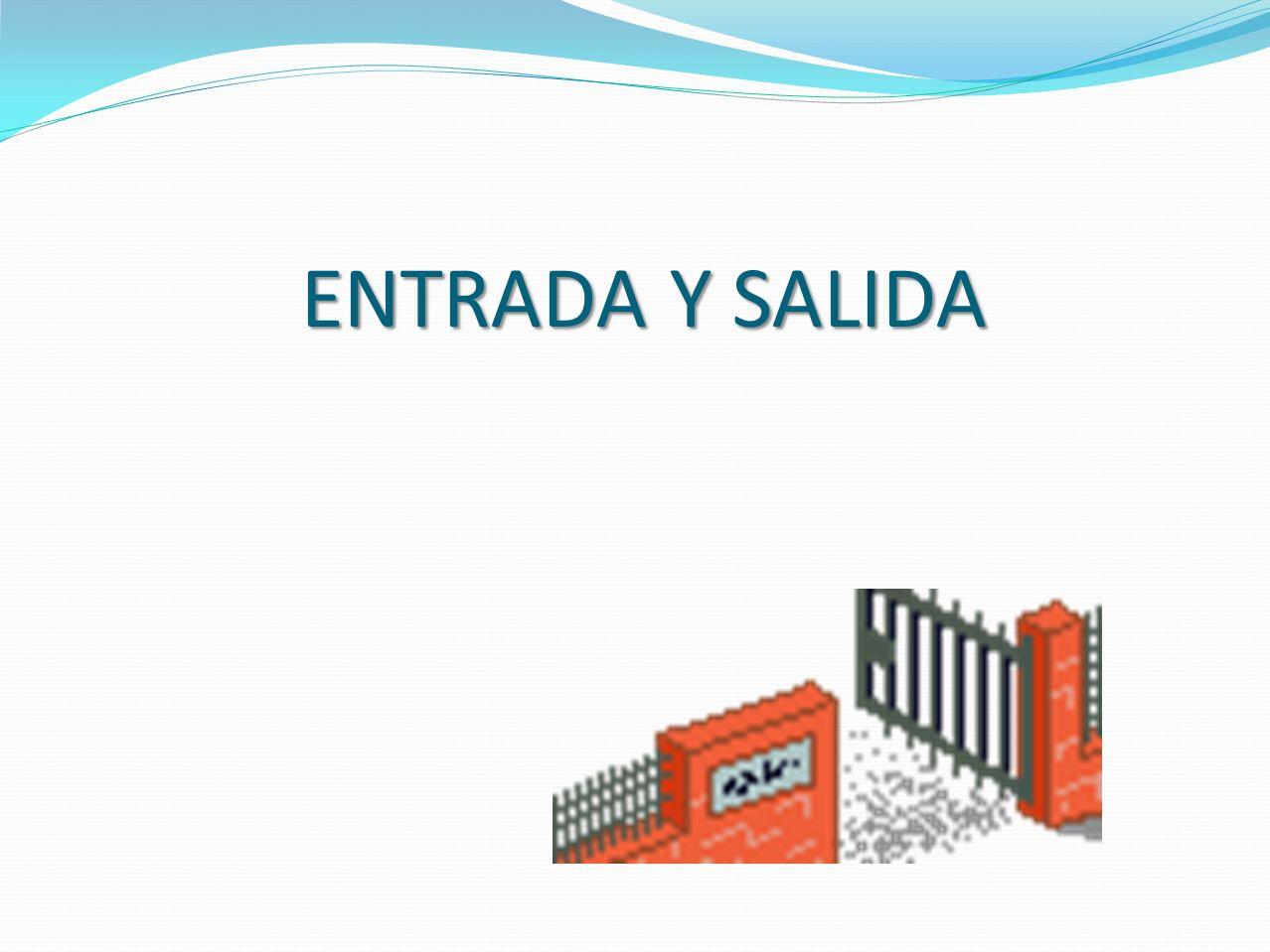 ENTRADA Y SALIDA