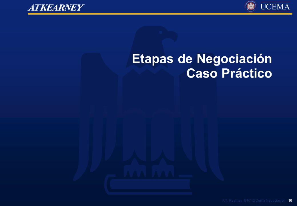 A.T. Kearney 51/712 Cema Negociación 16 Etapas de Negociación Caso Práctico