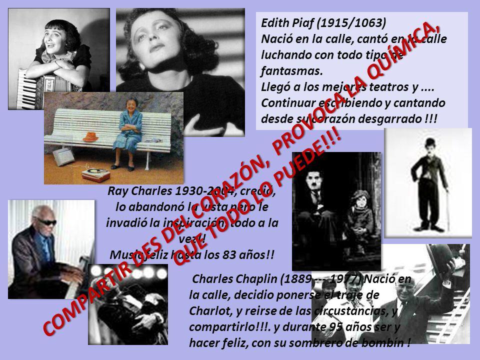 Edith Piaf (1915/1063) Nació en la calle, cantó en la calle luchando con todo tipo de fantasmas.
