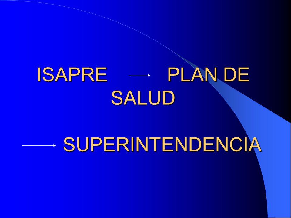 ISAPRE PLAN DE SALUD SUPERINTENDENCIA