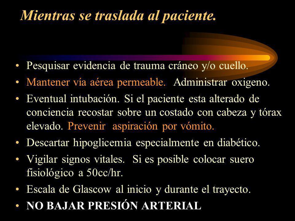 Manejo ACV en Nivel primario.1 nivel atención. Reconocer síntomas.