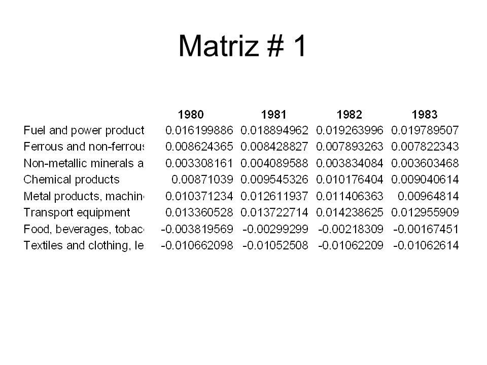 Matriz # 1