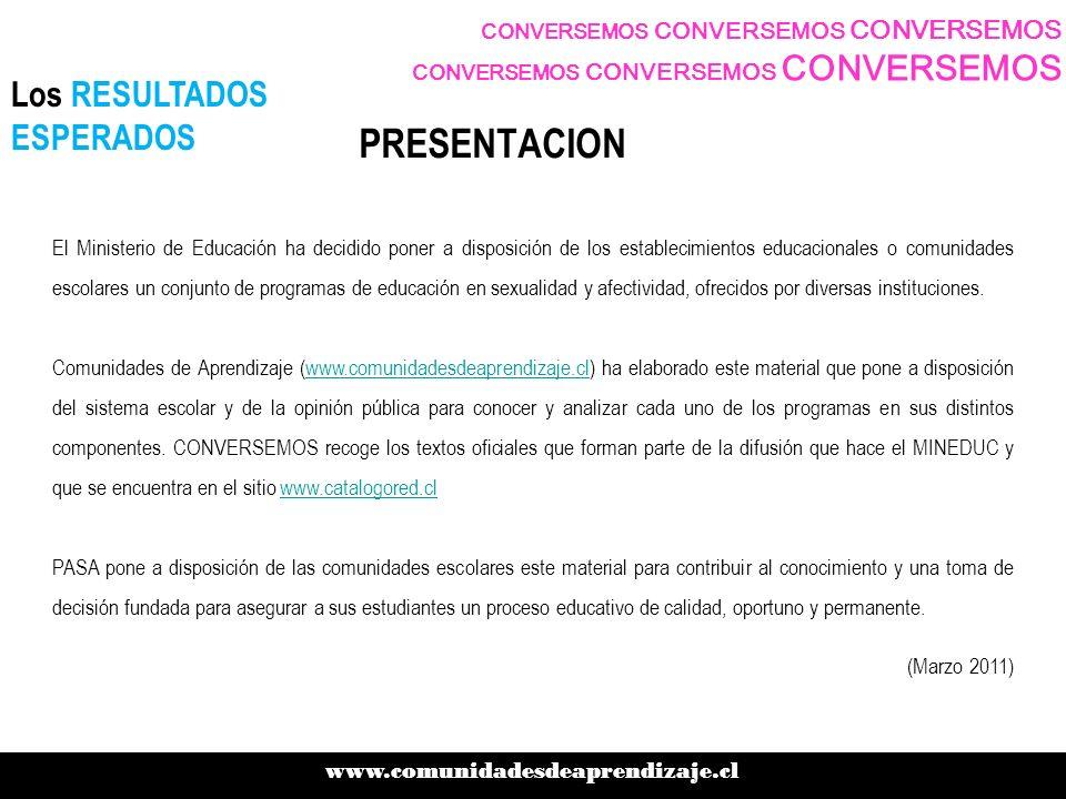 CONVERSEMOS CONVERSEMOS CONVERSEMOS www.comunidadesdeaprendizaje.cl .