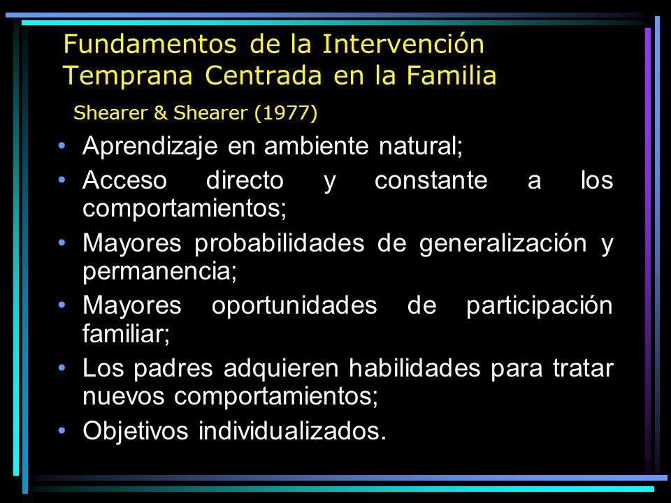 Intervención Con Familias Familia como Aliada = Intervención Centrada en la Familia