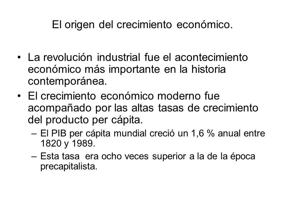 El origen del crecimiento económico. La revolución industrial fue el acontecimiento económico más importante en la historia contemporánea. El crecimie