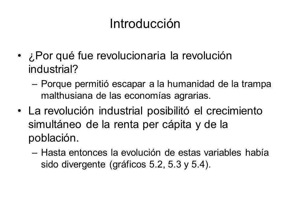 Introducción ¿Por qué fue revolucionaria la revolución industrial? –Porque permitió escapar a la humanidad de la trampa malthusiana de las economías a