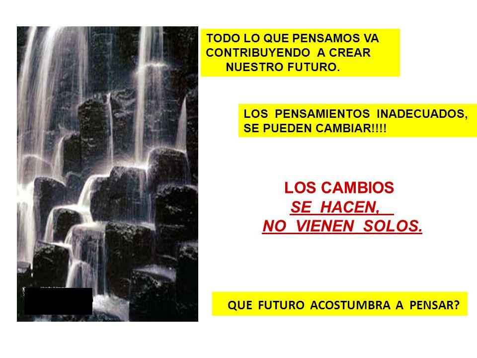 QUE FUTURO ACOSTUMBRA A PENSAR? TODO LO QUE PENSAMOS VA CONTRIBUYENDO A CREAR NUESTRO FUTURO. LOS PENSAMIENTOS INADECUADOS, SE PUEDEN CAMBIAR!!!! LOS