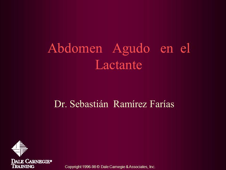 Abdomen Agudo en el Lactante Dr. Sebastián Ramírez Farías Copyright 1996-98 © Dale Carnegie & Associates, Inc.