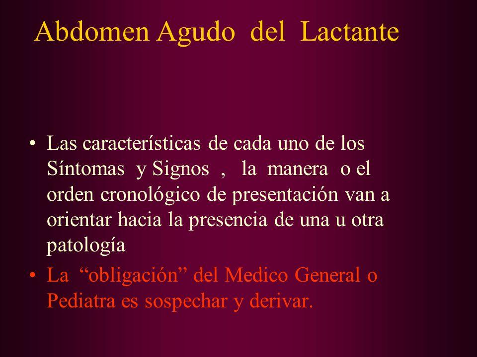 Abdomen Agudo en el Lactante INVAGINACION INTESTINAL DIAGNOSTICO Rx.