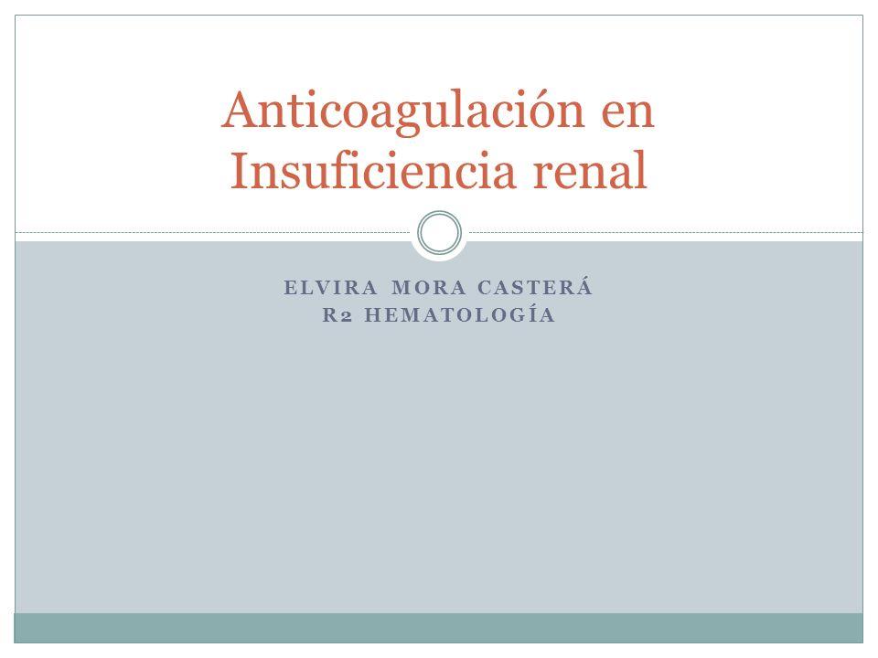 3.C Enoxaparina Riesgo de acumulación en I.R.Severa Principalmente en dosis terapéuticas estándar.