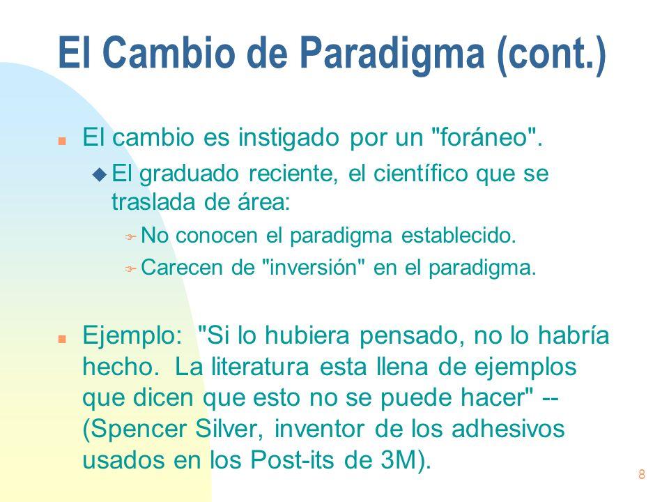 9 La Ceguera y la Parálisis Paradigmática n La enfermedad mortal de la certidumbre.