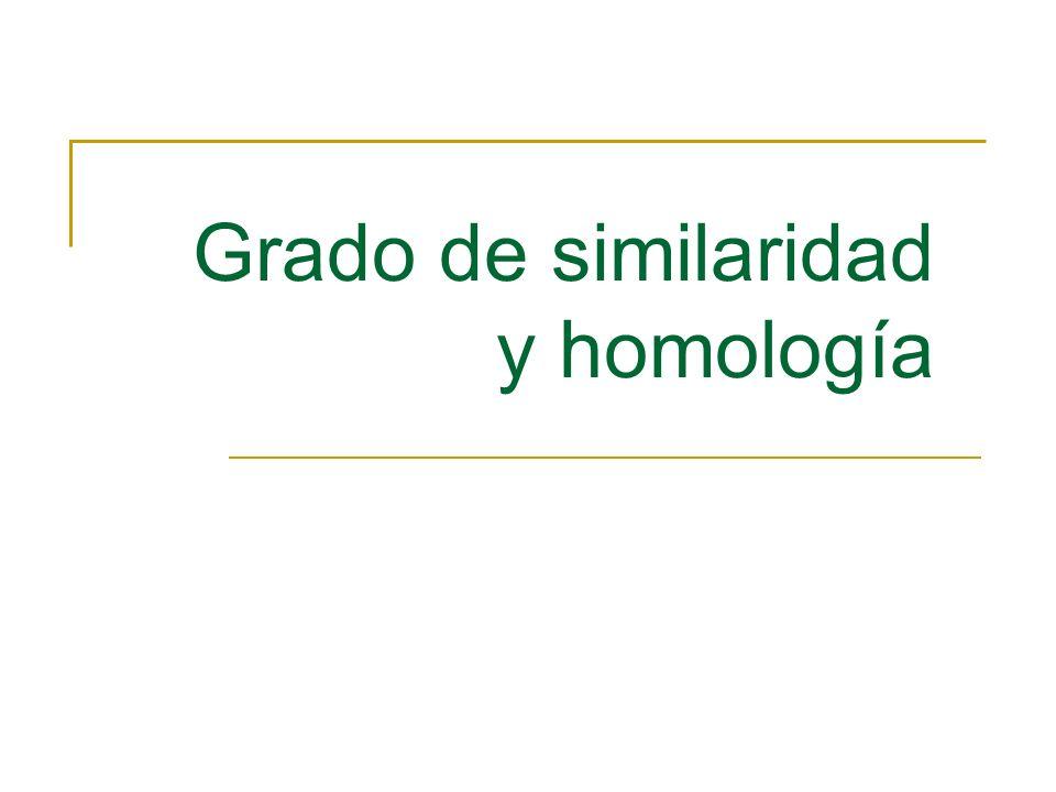 Grado de similaridad y homología