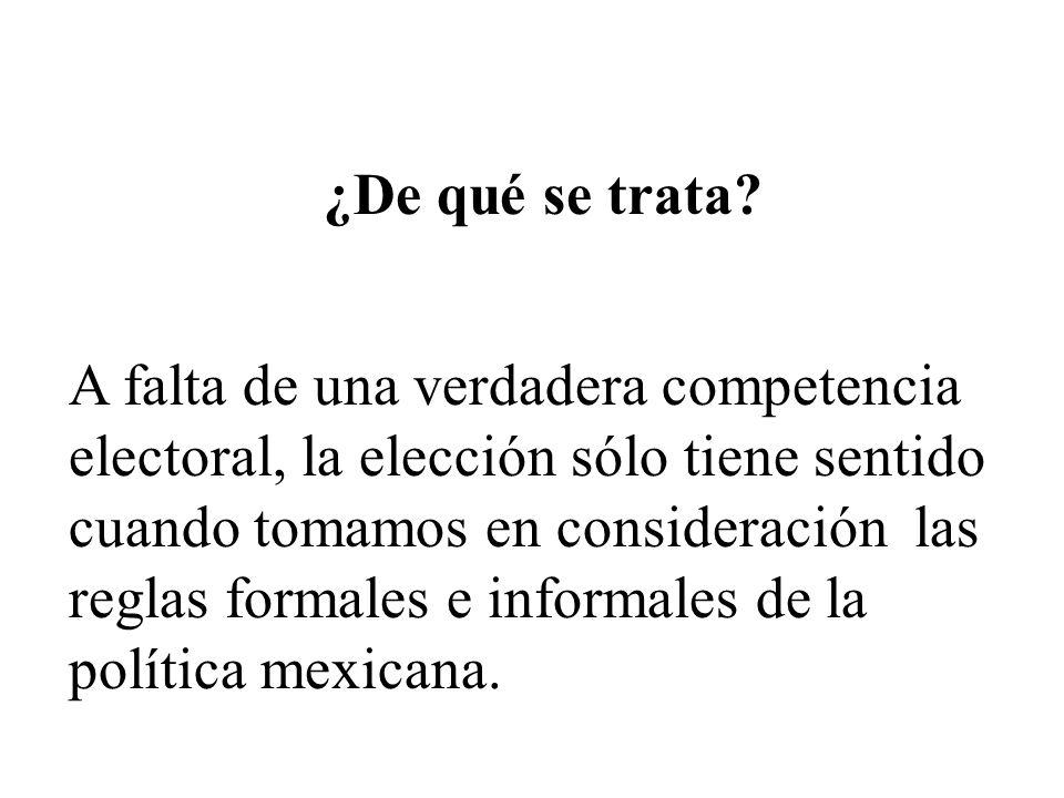 La esfera formal Formalmente, en México era una democracia con un sistema de gobierno presidencial, similar al de Estados Unidos, con...