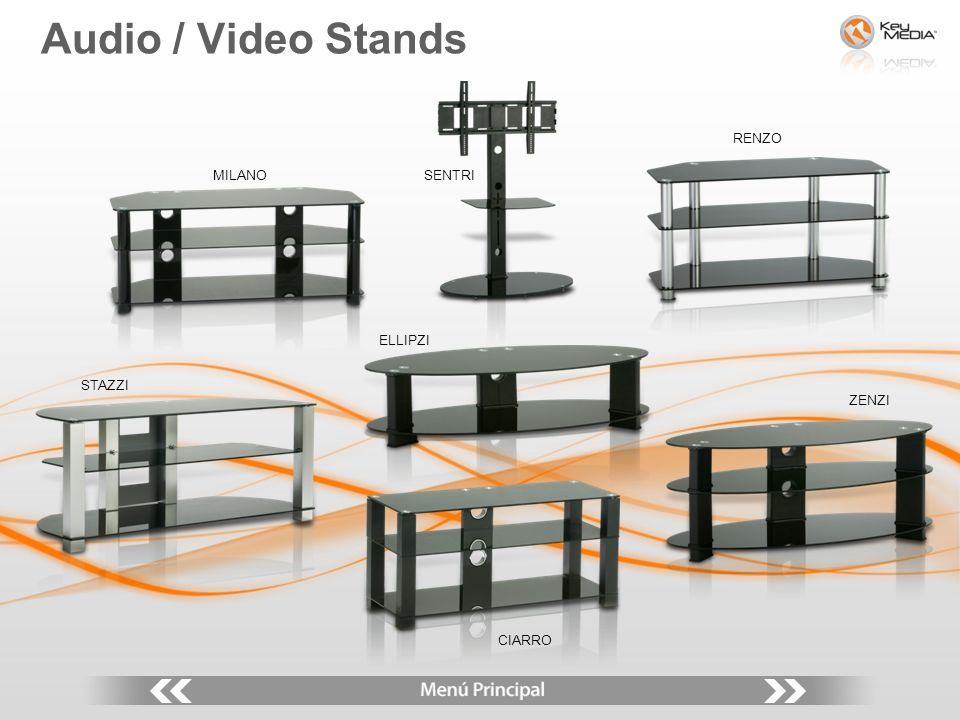 MILANO Audio / Video Stands SENTRI RENZO STAZZI ELLIPZI CIARRO ZENZI