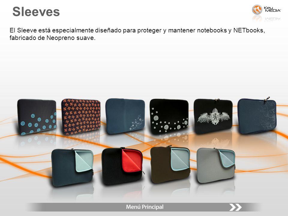 El Sleeve está especialmente diseñado para proteger y mantener notebooks y NETbooks, fabricado de Neopreno suave. Sleeves