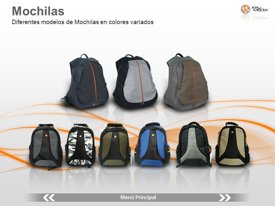 Mochilas Diferentes modelos de Mochilas en colores variados