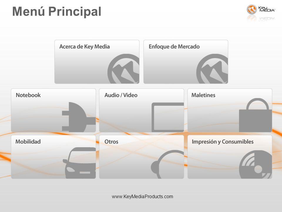 Menú Principal www.KeyMediaProducts.com