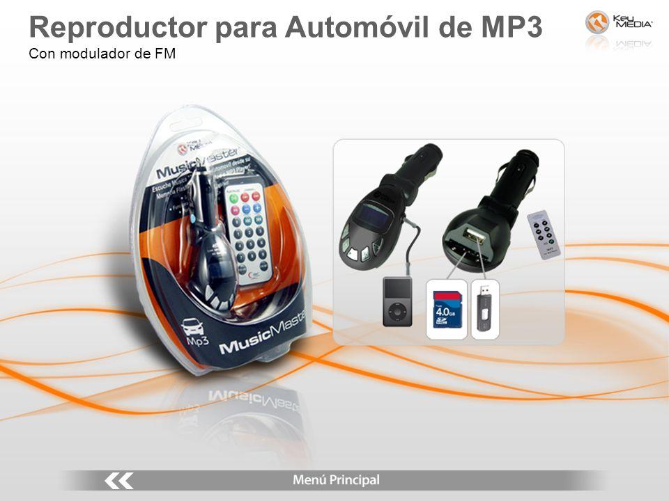 Reproductor para Automóvil de MP3 Con modulador de FM