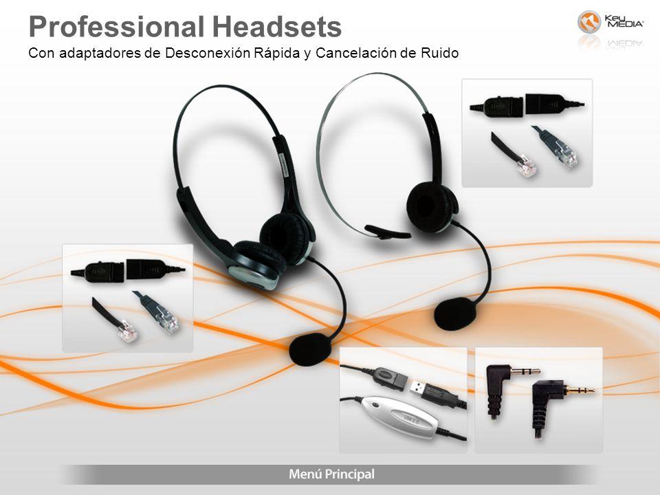 Professional Headsets Con adaptadores de Desconexión Rápida y Cancelación de Ruido