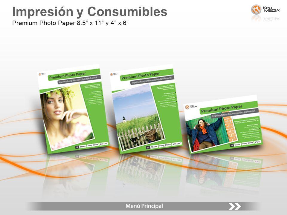Impresión y Consumibles Premium Photo Paper 8.5 x 11 y 4 x 6