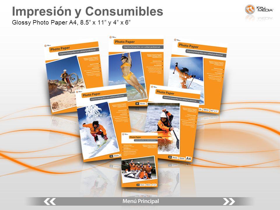 Impresión y Consumibles Glossy Photo Paper A4, 8.5 x 11 y 4 x 6