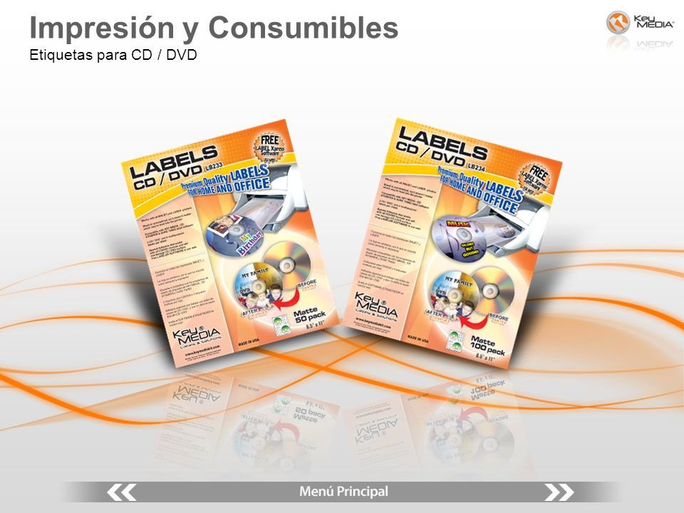 Impresión y Consumibles Etiquetas para CD / DVD