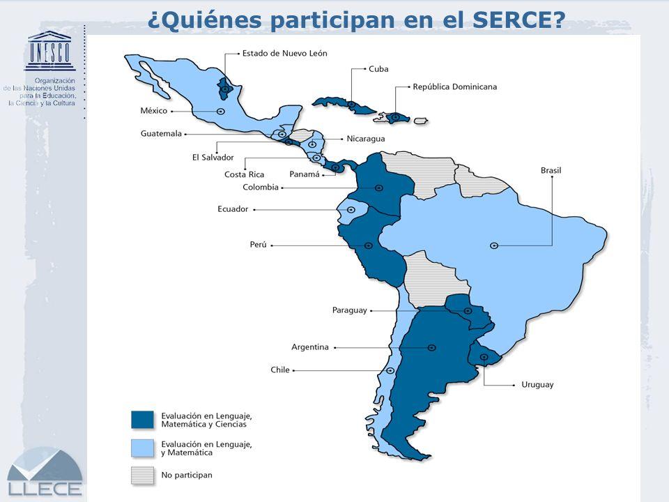 6 ¿Cuál es el número de escuelas, aulas y estudiantes incluidos en el SERCE.