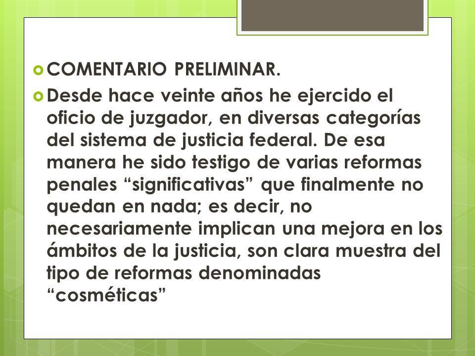 COMENTARIO PRELIMINAR.