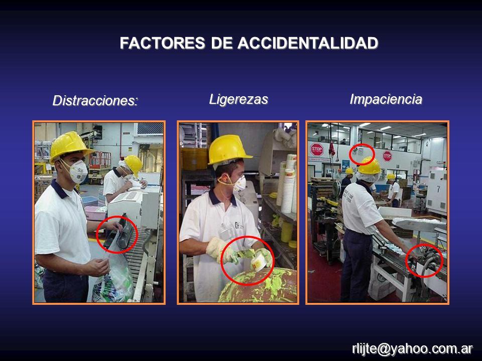 Distracciones:LigerezasImpaciencia FACTORES DE ACCIDENTALIDAD rlijte@yahoo.com.ar