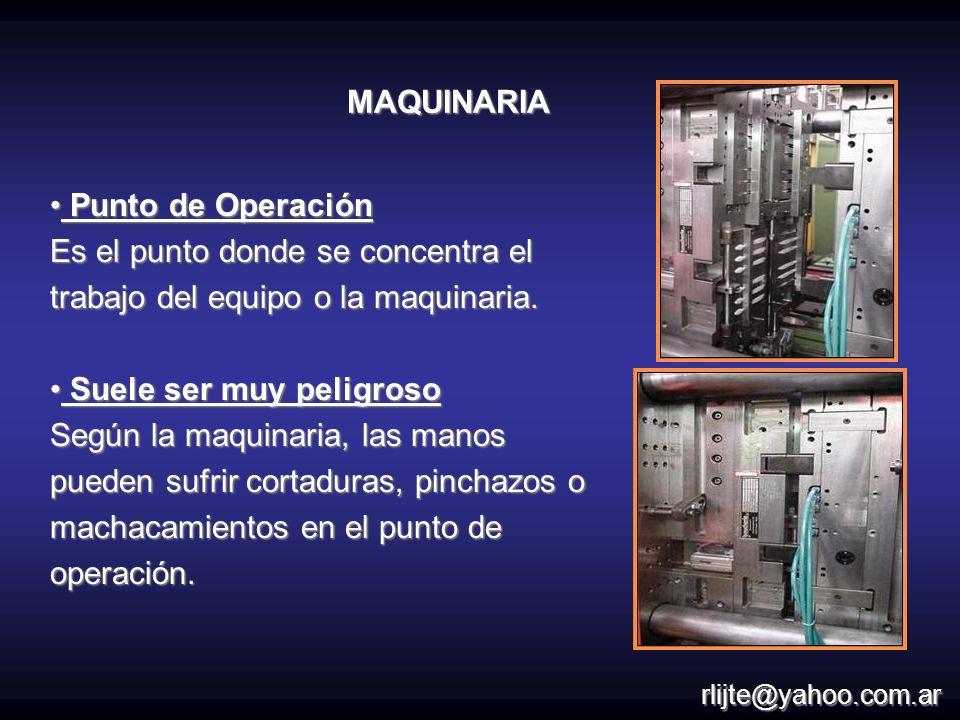 Un peligro mecánico es el que puede herir sus manos por causa de mecanismos en movimiento.