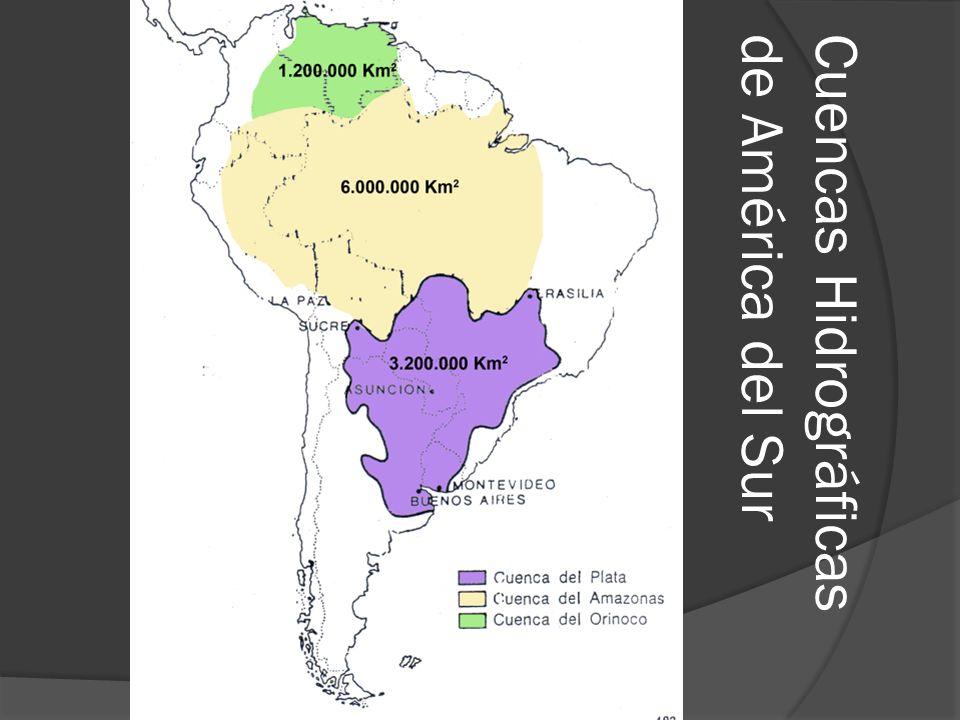 Cuencas Hidrográficasde América del Sur
