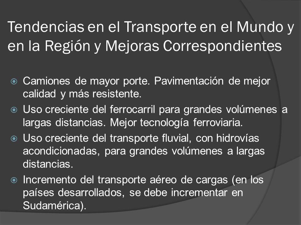 Tendencias en el Transporte en el Mundo y en la Región y Mejoras Correspondientes Camiones de mayor porte.